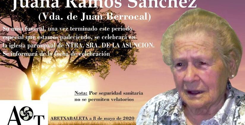 Juana Ramos Sánchez